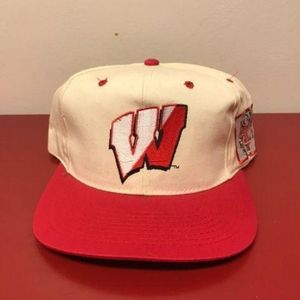 RARE Wisconsin Badgers Snapback Cap Hat Vintage by